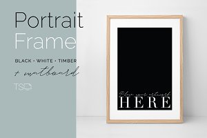 Portrait Frame Mockup with Matboard