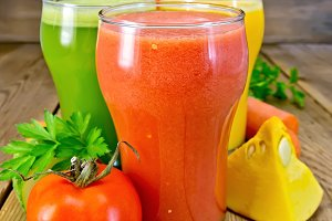 Juice tomato and vegetable