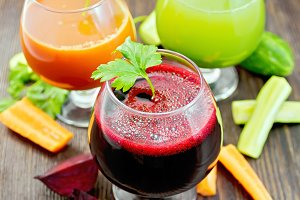 Juice of beet, carrot and cucumber