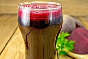 Juice beet in glass