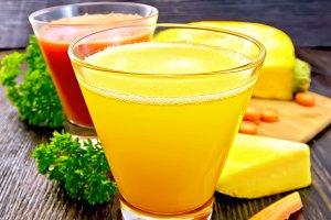 Juice pumpkin and carrot