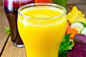 Juice pumpkin and vegetables