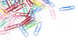 multi-colored paper clips