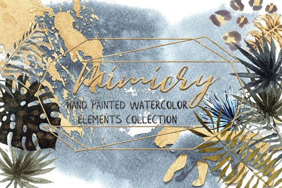-30% Mimicry Watercolor Collection in Illustrations