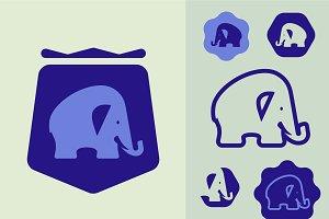 Elephant Modern Icon set
