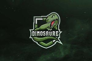 Dinosaure Sport and Esports Logo