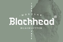Blackhead Typeface by Headfonts in Blackletter Fonts