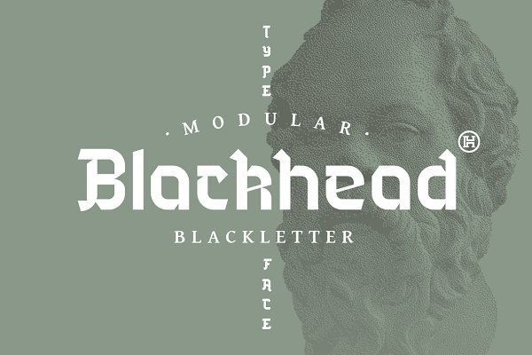 Blackletter Fonts: Headfonts - Blackhead Typeface