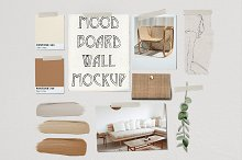 Mood Board Wall Mockup - PSD by Thomas Cunningham in Product Mockups