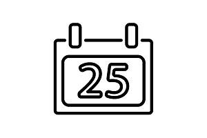 Web line icon. Calendar black