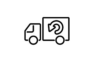 Web line icon. Delivery black