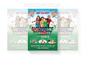 Children's or Kids Party Flyer