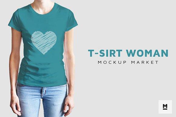 T-Sirt Woman Mockup