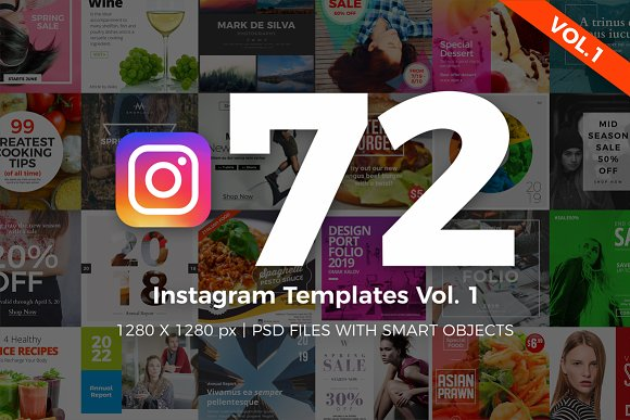 72 Instagram Templates Vol.1