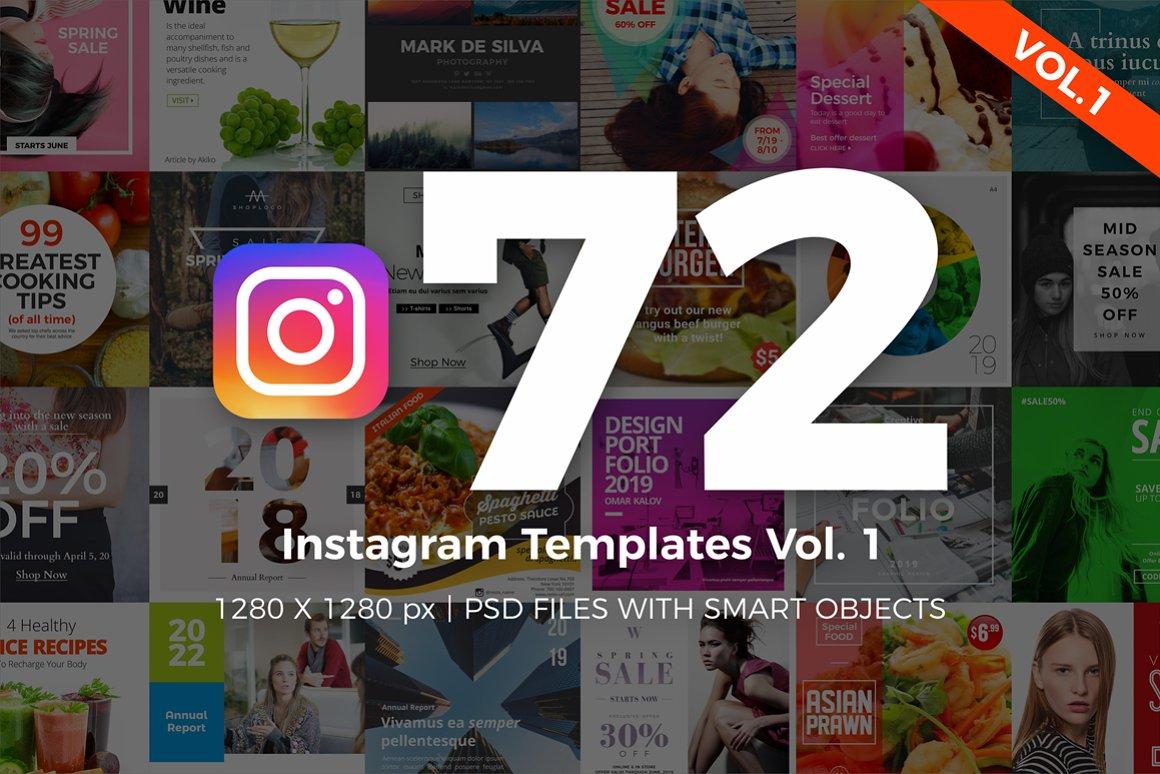 72 Instagram Templates Vol.1