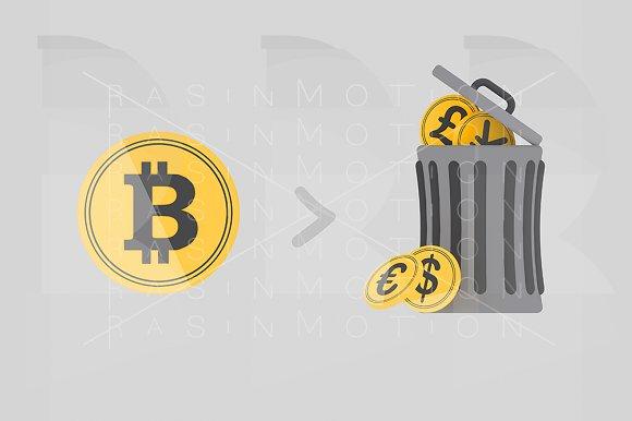 Bitcoin Garbage Trash Can