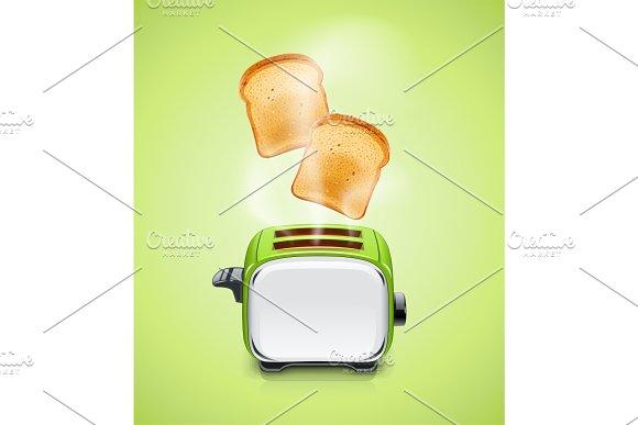 Green Toaster Kitchen Equipment