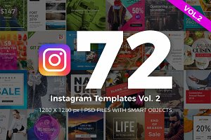 72 Instagram Templates Vol.2
