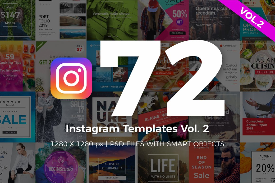 72 Instagram Templates Vol.2