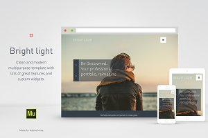 Adobe Muse template - Bright