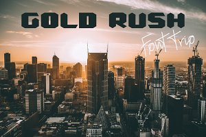 Gold Rush Font Trio
