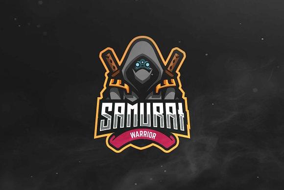 samurai sport and esports logo logo templates creative market