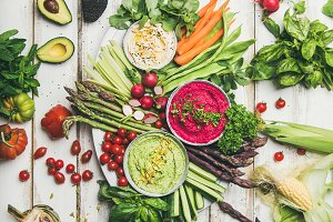 Healthy raw summer vegan snack plate