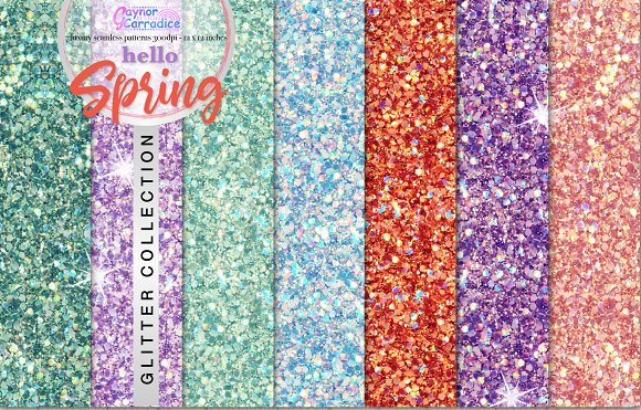 Hello Spring Glitter Collection