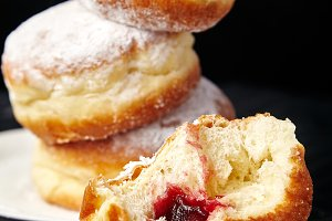 Sufganiyot donuts with jelly