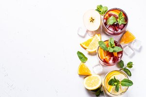 Sangria set on white.