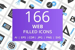 166 Web Filled Icons