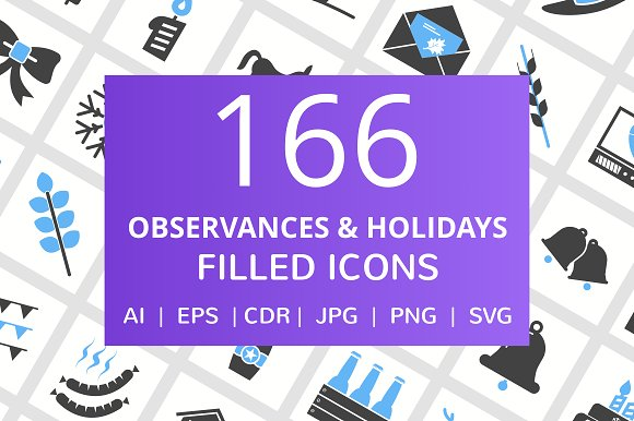 166 Observance Holiday Filled Icon
