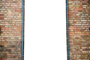 Empty white isolated billboard