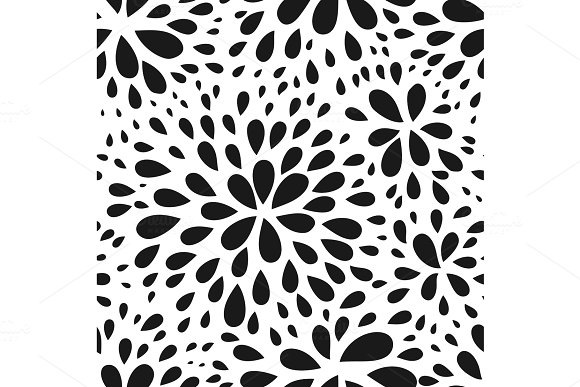 Abstract Seamless Drop Pattern Monochrome Black And White Texture Repeating Geometric Simple Graphic Background