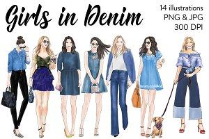 Girls in Denim - Light Skin