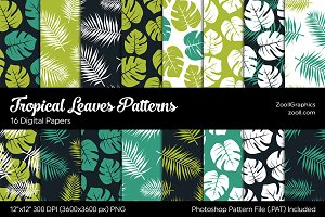 Tropical Leaves Digital Papers