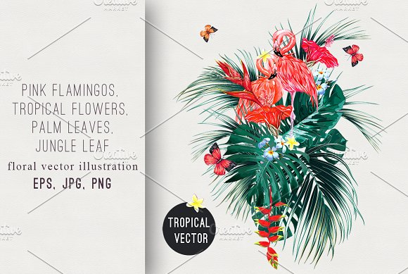 Tropical Paradise Illustration