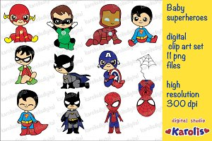Baby superheroes / clip art set