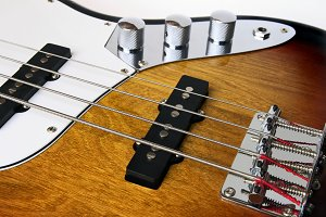 Bass Guitar close up