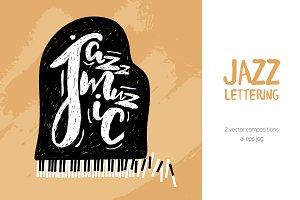 Jazz music lettering