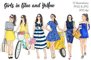 Girls in Blue and Yellow