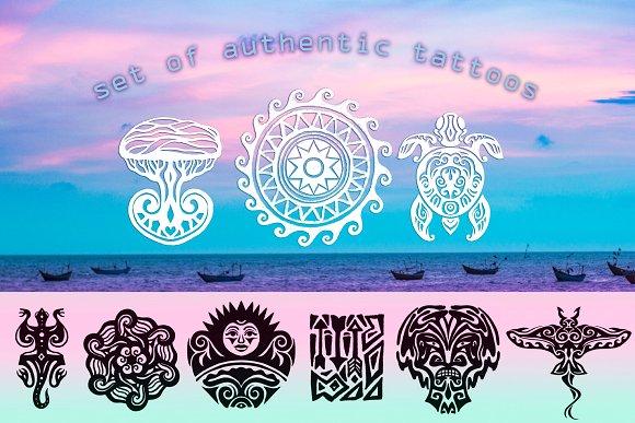 Authentic Tattoos Set