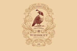 Whiskey Logo + Numbers Font