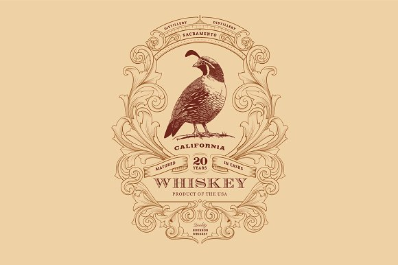 whiskey logo numbers font logo templates creative market