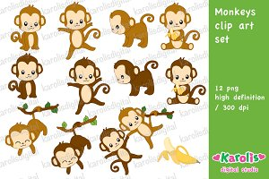 Monkeys / clip art set