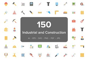150 Industrial and Construction Icon
