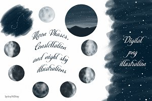 Moon Phases and Constellation