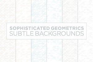 6 Subtle Geometric Backgrounds (w)