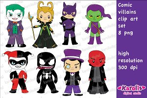 Comic villains / clip art set