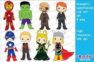 Avengers superhero / clip art set